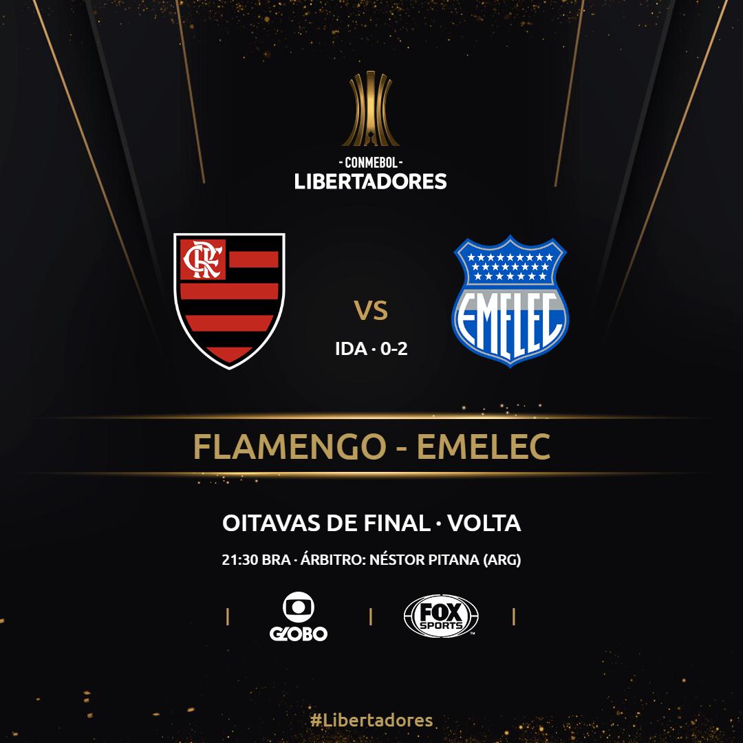 Placa Flanengo x Emelec