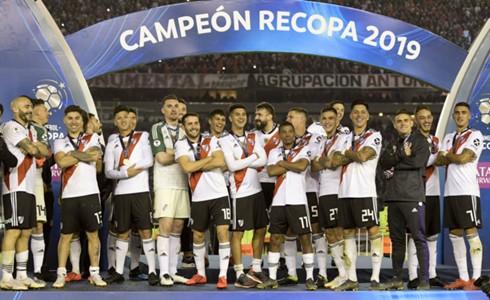 River Plate festejos campeon Recopa CONMEBOL Sudamericana