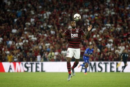 Gerson pelo Flamengo na Libertadores