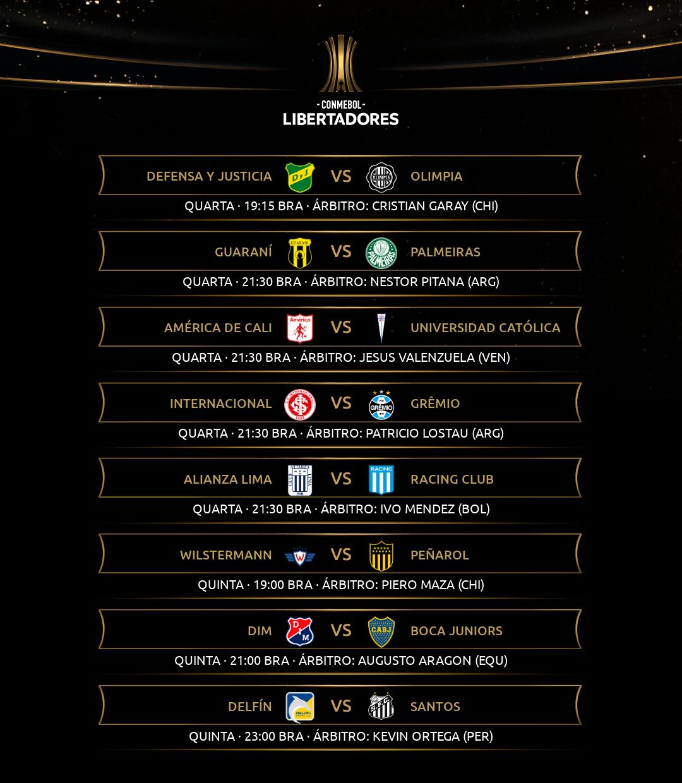 Árbitros 4 rodada Libertadores 2