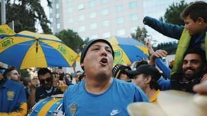 Boca banderazo Madrid final Copa Libertadores 2018