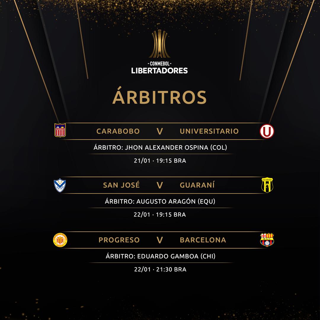 Arbitragem Fase 1 Ida Libertadores 2020