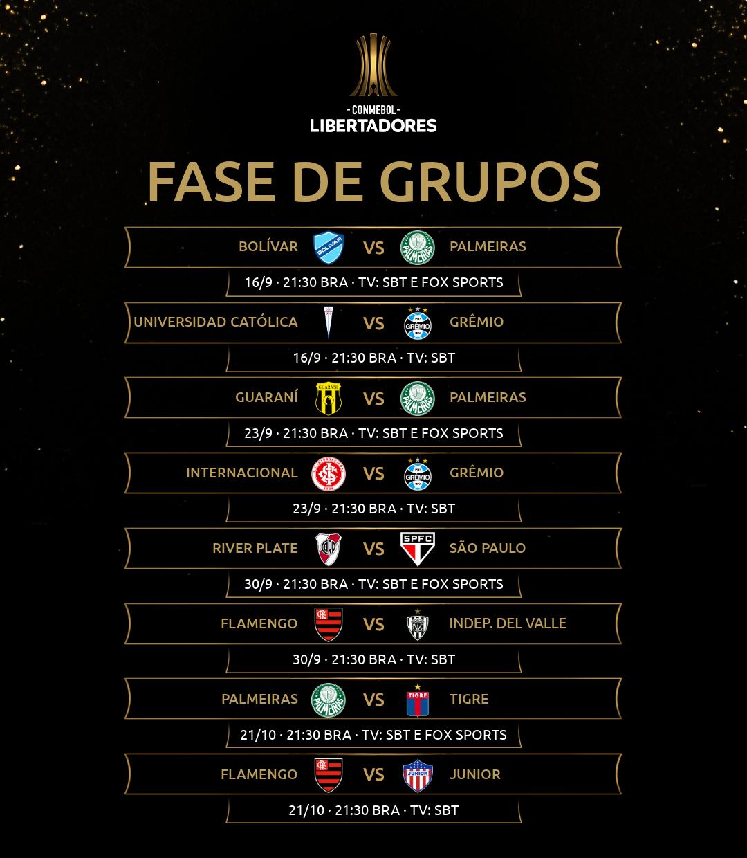 SBT - jogos da Libertadores