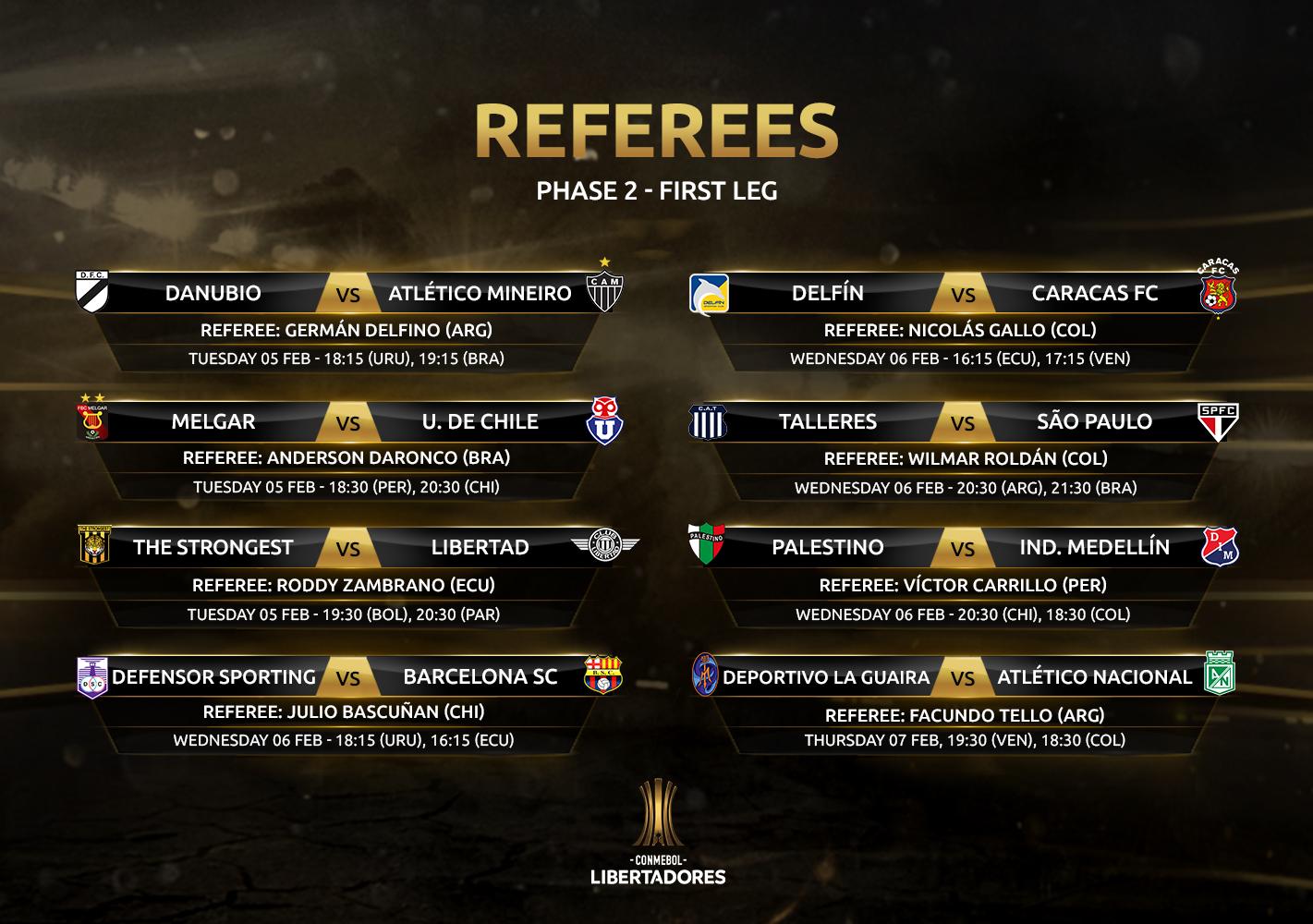 Referees 1st leg, Phase 2