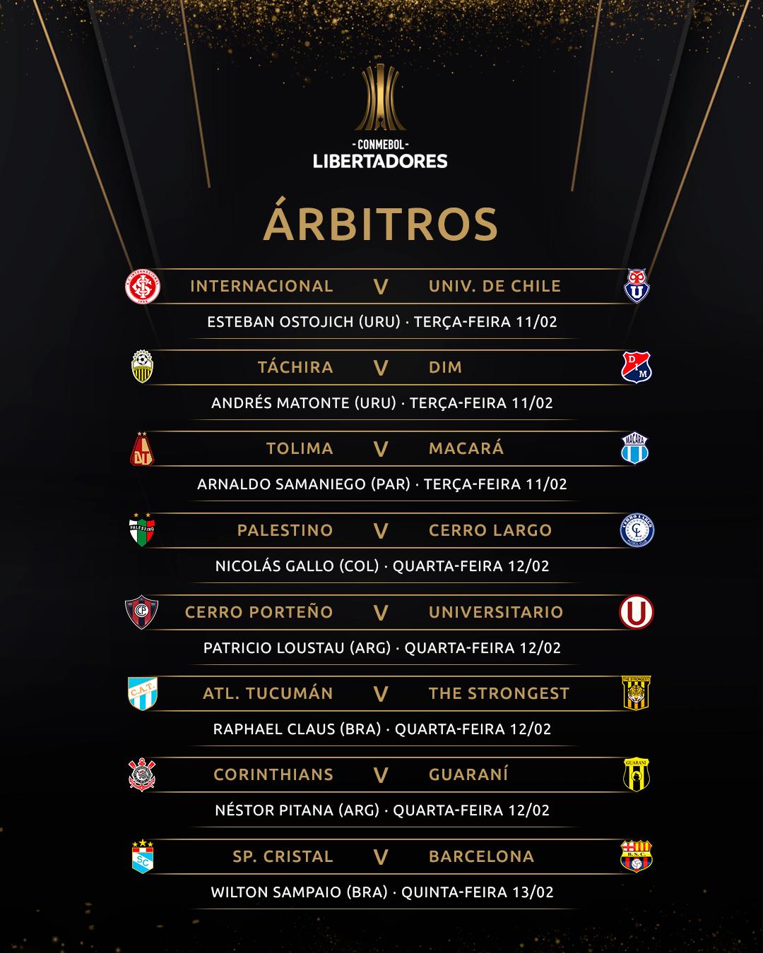 Arbitragem - volta da Fase 2 - Libertadores
