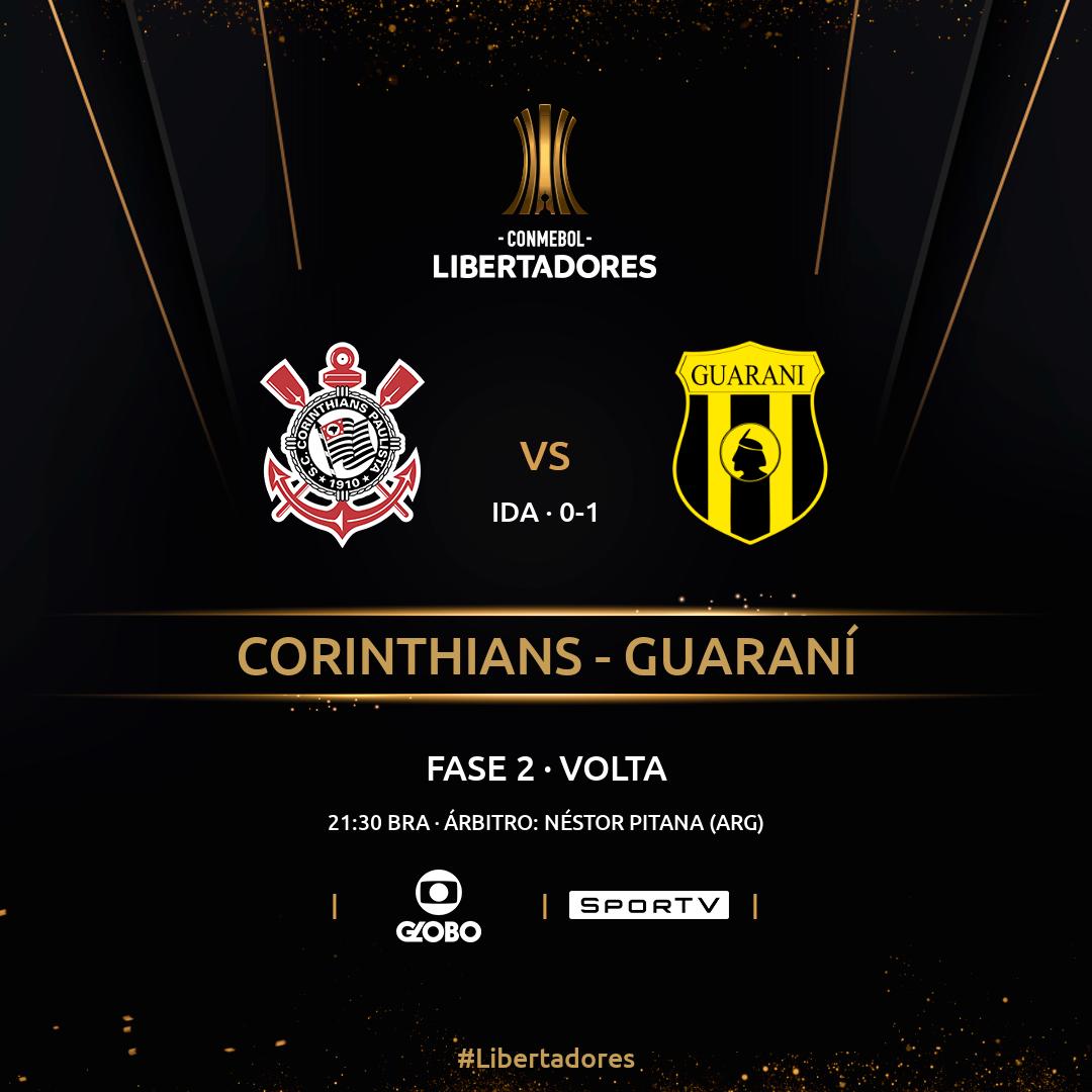 Corinthians x Guaraní - Fase 2 - Libertadores
