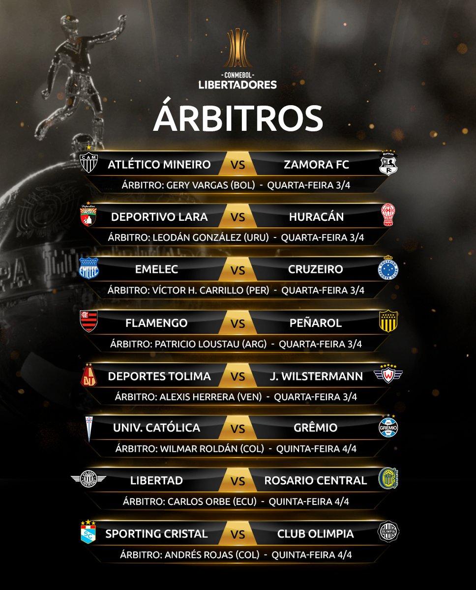 Árbitros 2 - Libertadores - Rodada 3