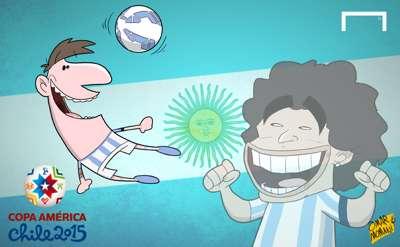 Messi Copa cartoon