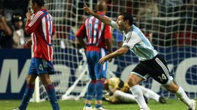 Javier Mascherano Argentina Paraguay Copa America 2007