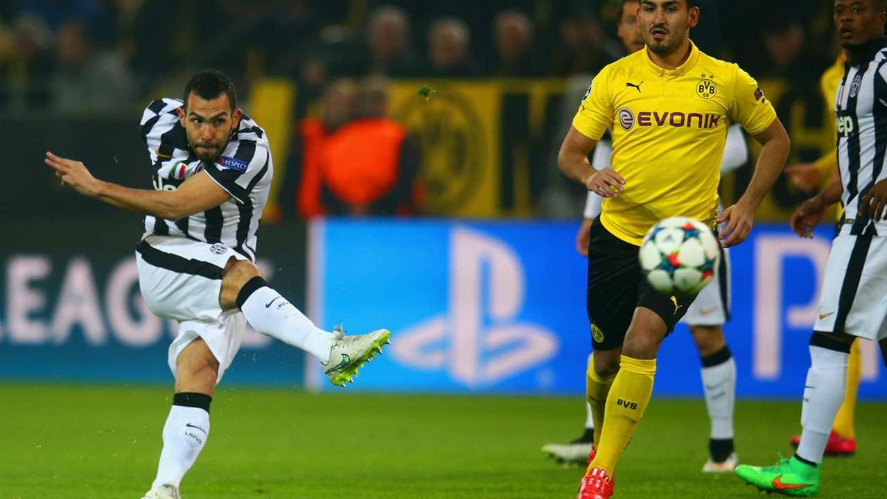 Carlos Tevez Juventus Dortmund