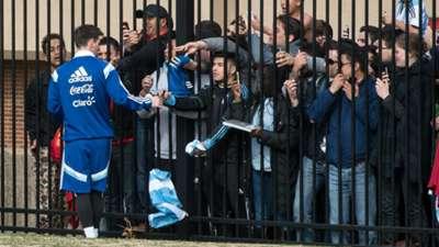Lionel Messi entrenamiento selección argentina