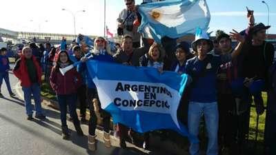 hinchas seleccion argentina concepcion