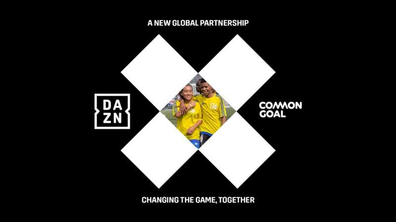 DAZN Common Goal Partnerschaft Titelbild
