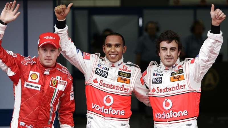 Kimi Raikkonen, Lewis Hamilton, Fernando Alonso, Ferrari, McLaren, F1