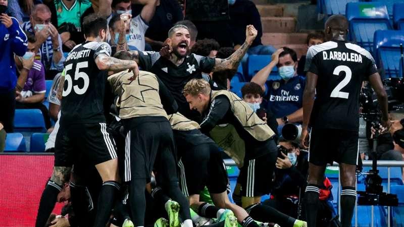 Sheriff Tiraspol Real Madrid celebration