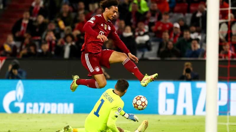 ONLY GER Champions League FC Bayern München Leroy Sane vs. Dynamo Kiew Georgiy Bushchan 29092021