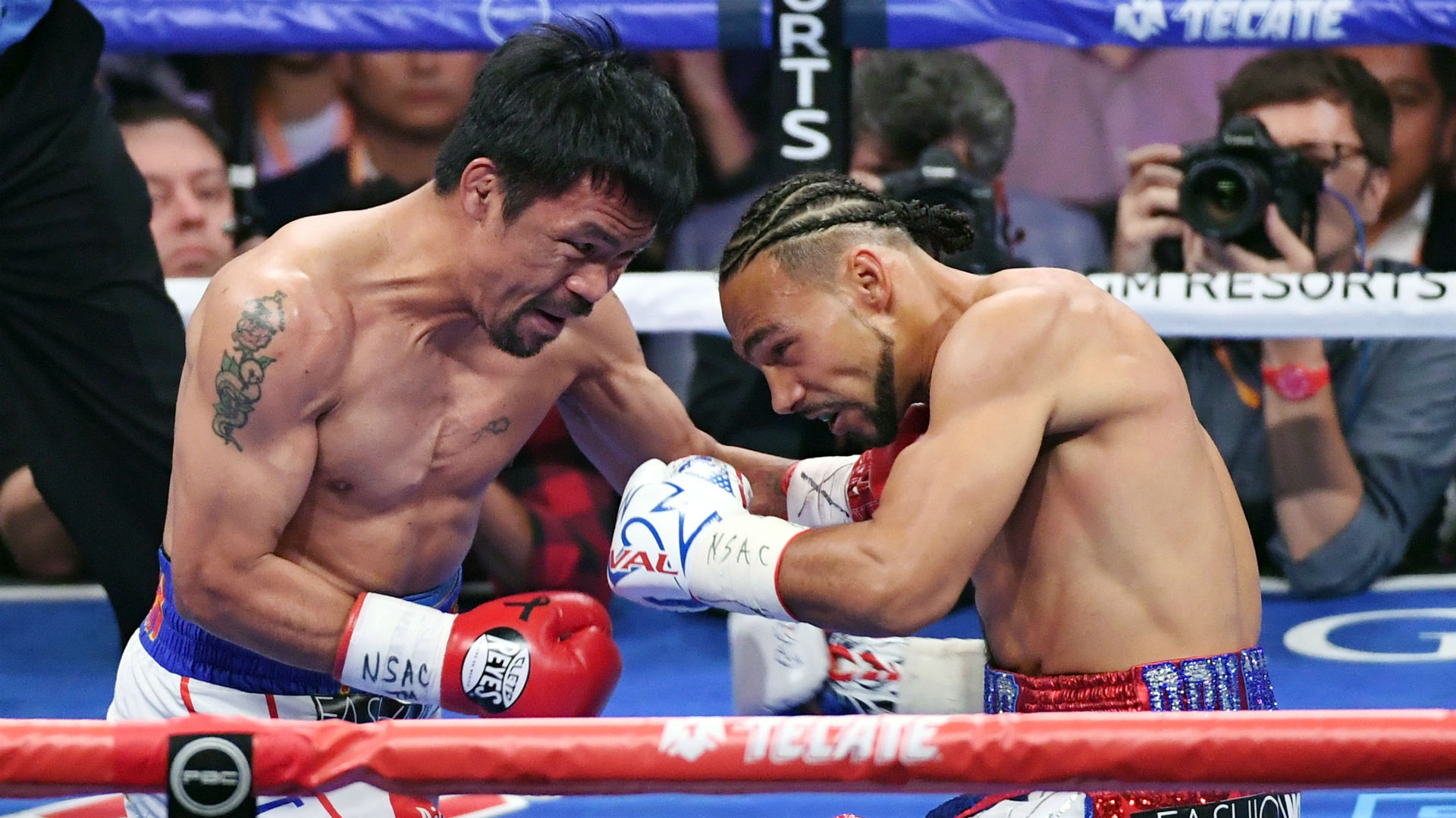 Pacquiao vs  Thurman results: Manny Pacquiao edges Keith