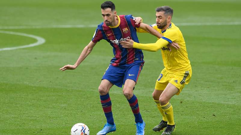 FC Barcelona Sergio Busquets FC Cadiz La Liga
