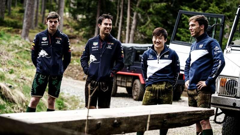 2021-07-30 Verstappen Perez Red Bull Gasly Tsunoda Alphatauri F1 Formula 1