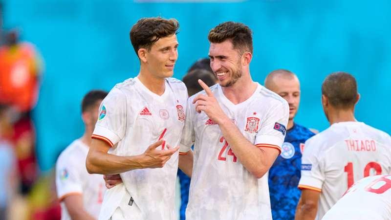 Pau Torres Aymeric Laporte Spain Euro 2020