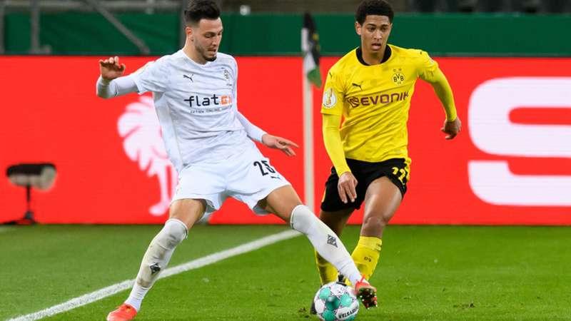 ONLY GER BVB Borussia Dortmund Mönchengladbach DFB-Pokal Jude Bellingham Ramy Bensebaini 02032021