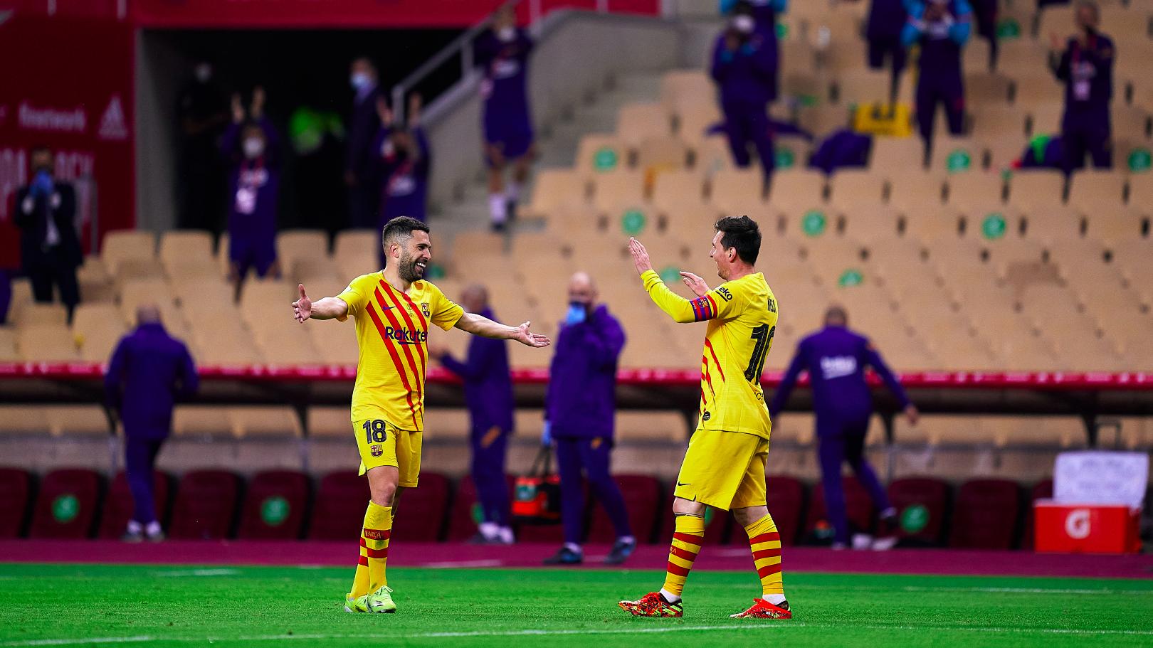 Jordi Alba Leo Messi Athletic Club Barcelona 04172021