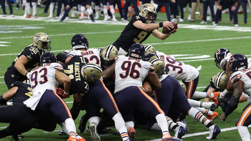 ONLY GER NFL Chicago Bears New Orleans Saints Drew Brees 10012021