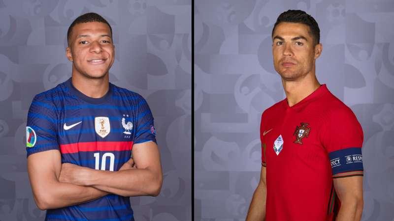 ONLY GERMANY Kylian Mbappe Frankreich Cristiano Ronaldo Portugal 10062021/11062021