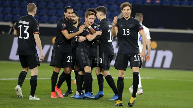 ONLY GER Leon Goretzka, Joshua Kimmich Emre Can, Kai Havertz, Lukas Klostermann Deutschland vs. Island WM-Qualifikation 25032021