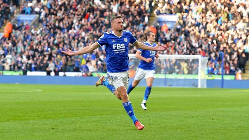 Jamie Vardy Leicester Manchester United Premier League 2021/22