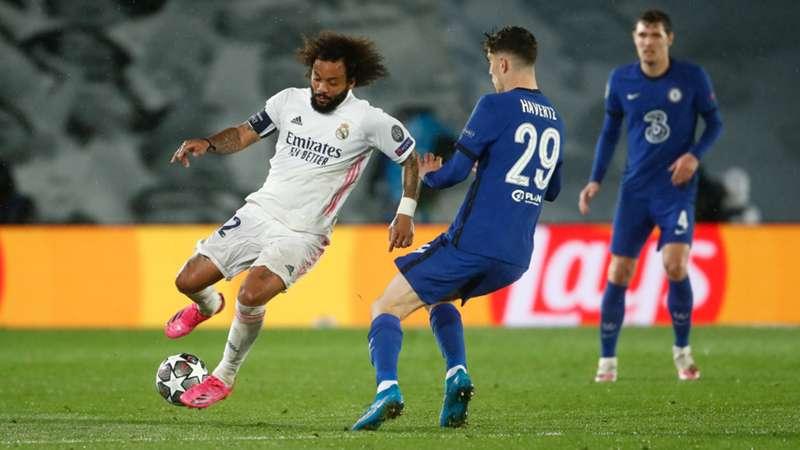 Marcelo Real Madrid Kai Havertz FC Chelsea 27042021
