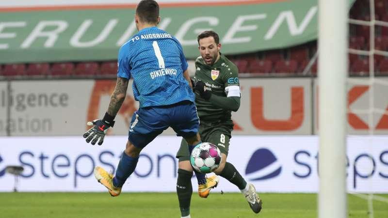 Gonzalo Castro VfB Stuttgart Rafal Gikiewicz FC Augsburg 10012021