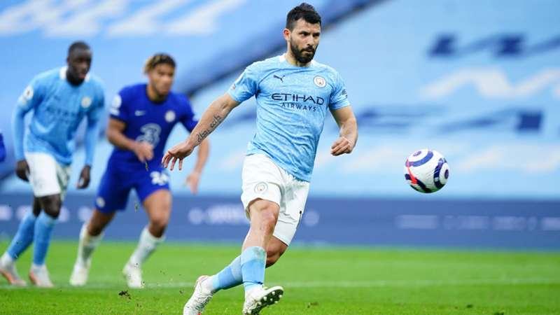 Sergio Aguero Misses On Terrible Panenka Attempt Chelsea Delay Manchester City S Title Celebrations Dazn News Canada