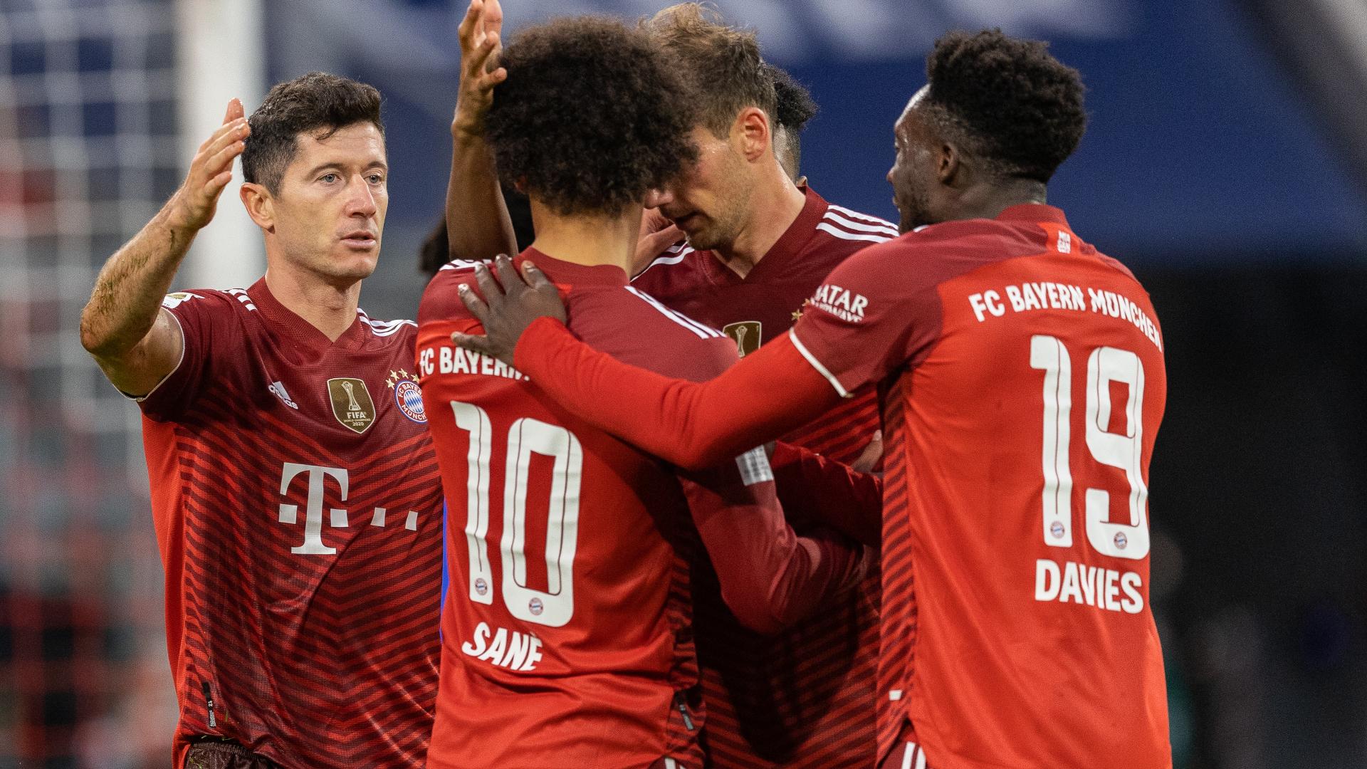ONLY GER FC Bayern München Bundesliga vs Hertha BSC Berlin Robert Lewandowski Leroy Sané Alphonso Davies Leon Goretzka 28082021
