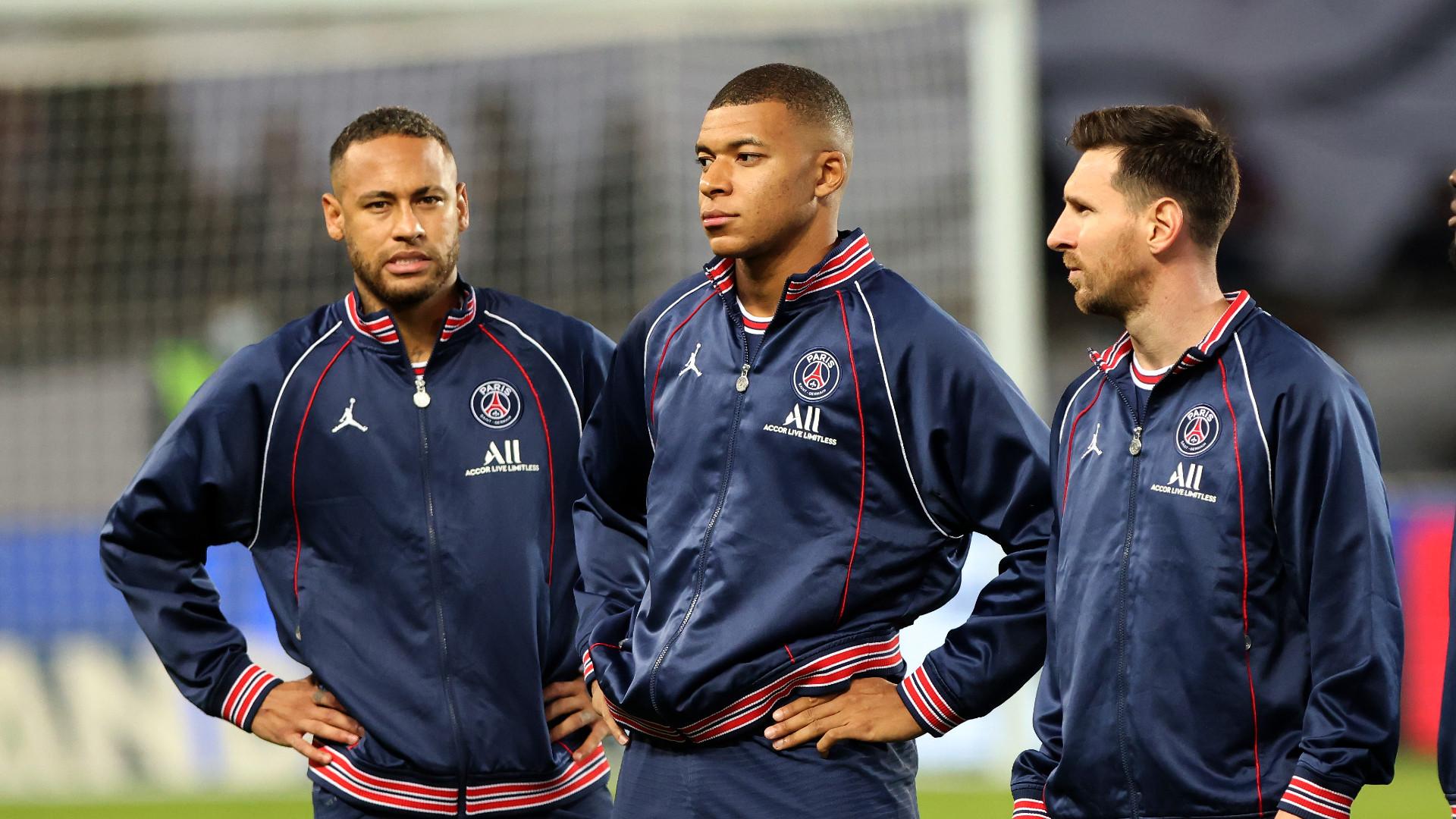 PSG Paris Saint Germain Neymar Messi Mbappe