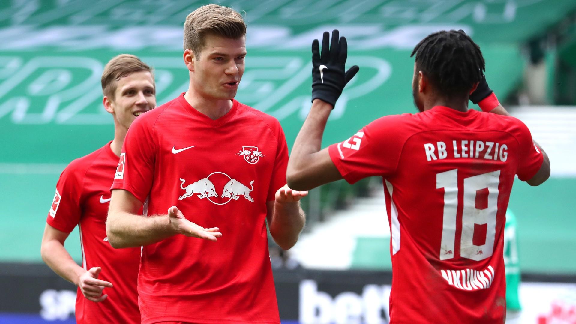Alexander Sörloth Christopher Nkunku RB Leipzig Bundesliga 10042021