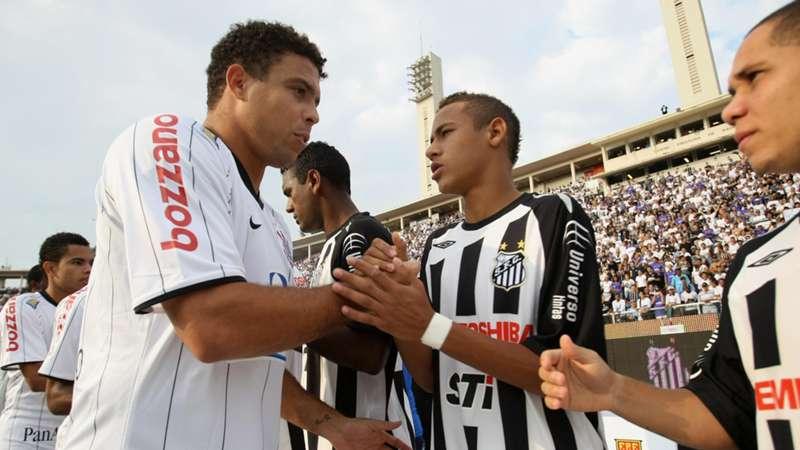 Ronaldo Nazario Neymar Corinthias Santos