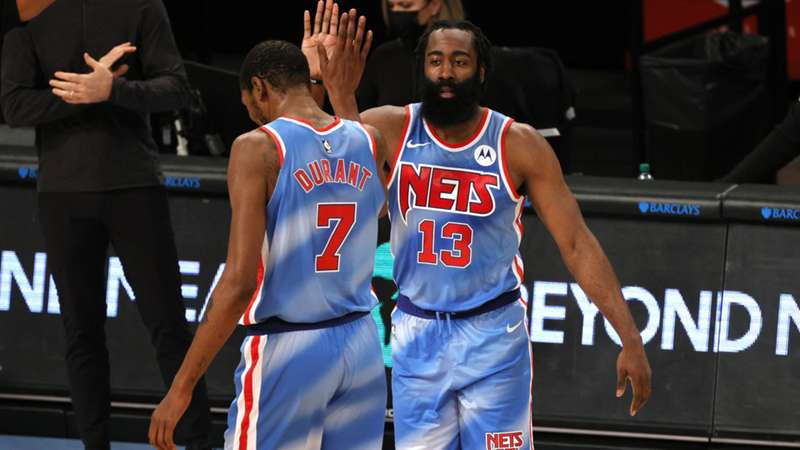 ONLY GER NBA James Harden Kevin Durant Brooklyn Nets vs. Orlando Magic 16012021