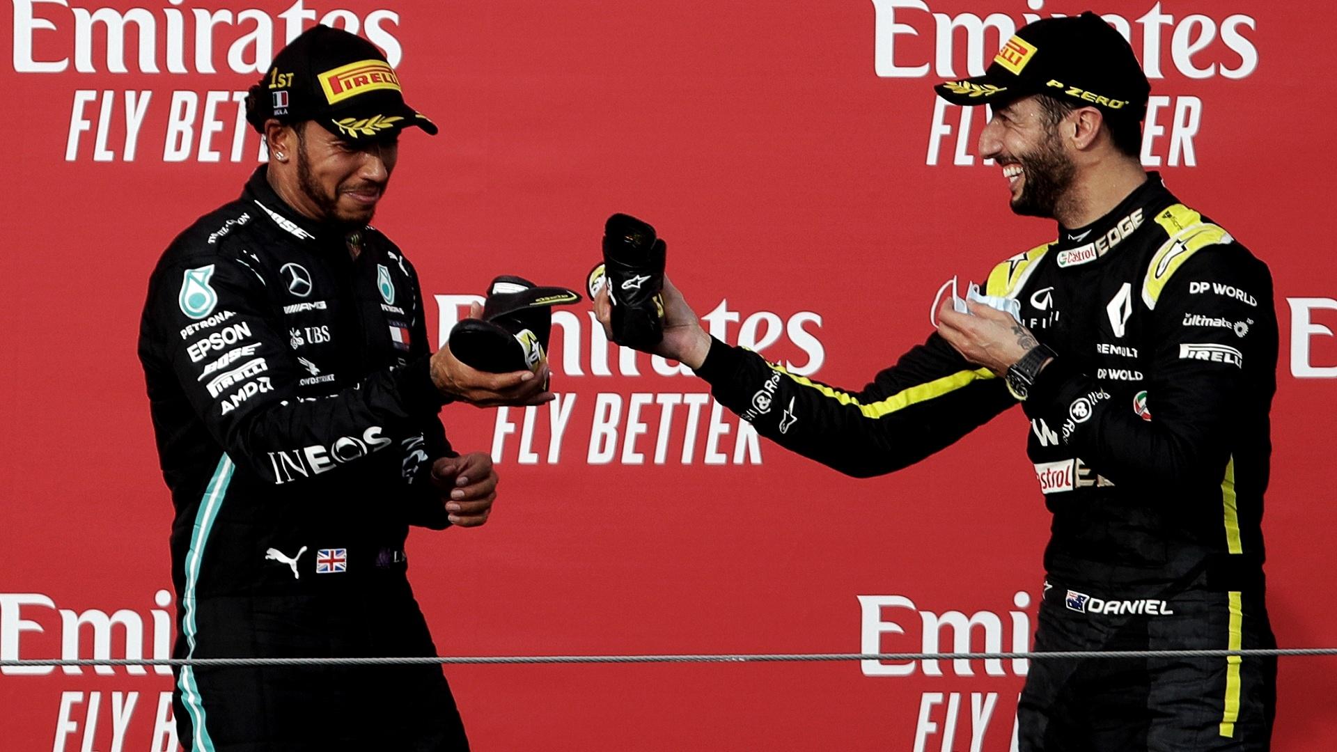 2020-11-07 Ricciardo Hamilton Formula 1 F1