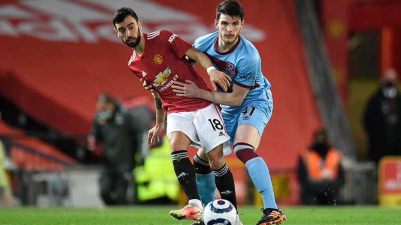 Manchester United West Ham Bruno Fernandes Declan Rice