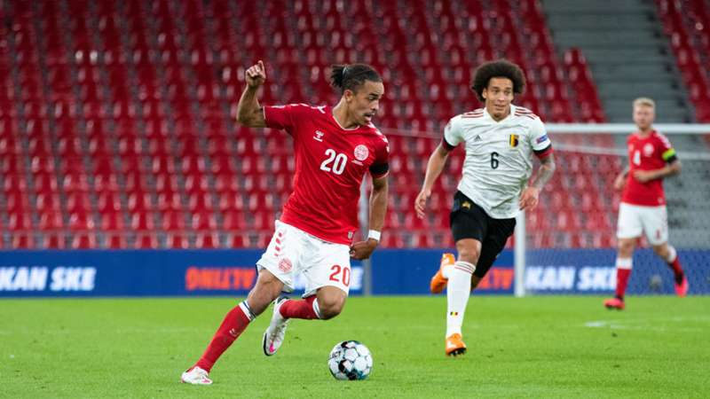 ONLY GERMANY Yussuf Poulsen Denmark vs Belgium Axel Witsel 05092020