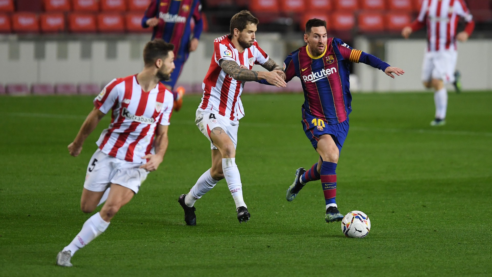 Lionel Messi Inigo Martinez LaLiga 31012021