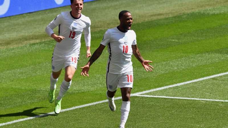 ONLY GER EURO 2020 Raheem Sterling England vs. Kroatien Jubel Mason Mount 13062021