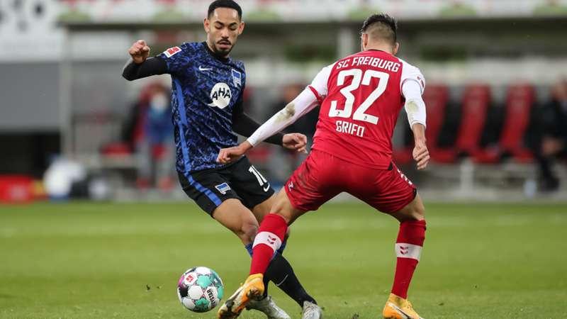 ONLY GER Hertha BSC Berlin SC Freiburg Matheus Cunha Vincenzo Grifo Bundesliga 20122021