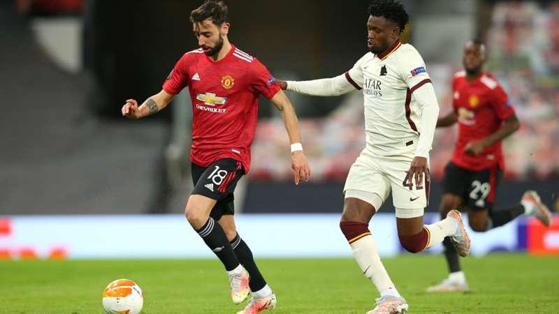 Bruno Fernandes Manchester United Amadou Diawara AS Roma 29042021