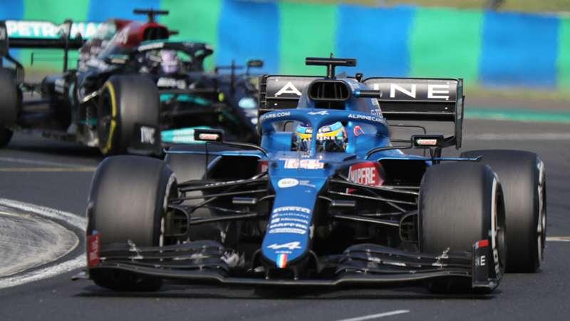 Fernando Alonso, Lewis Hamilton, Alpine F1 Team, Mercedes, F1, GP Hungary, Gran Premio de Hungría, 1 agosto 2021