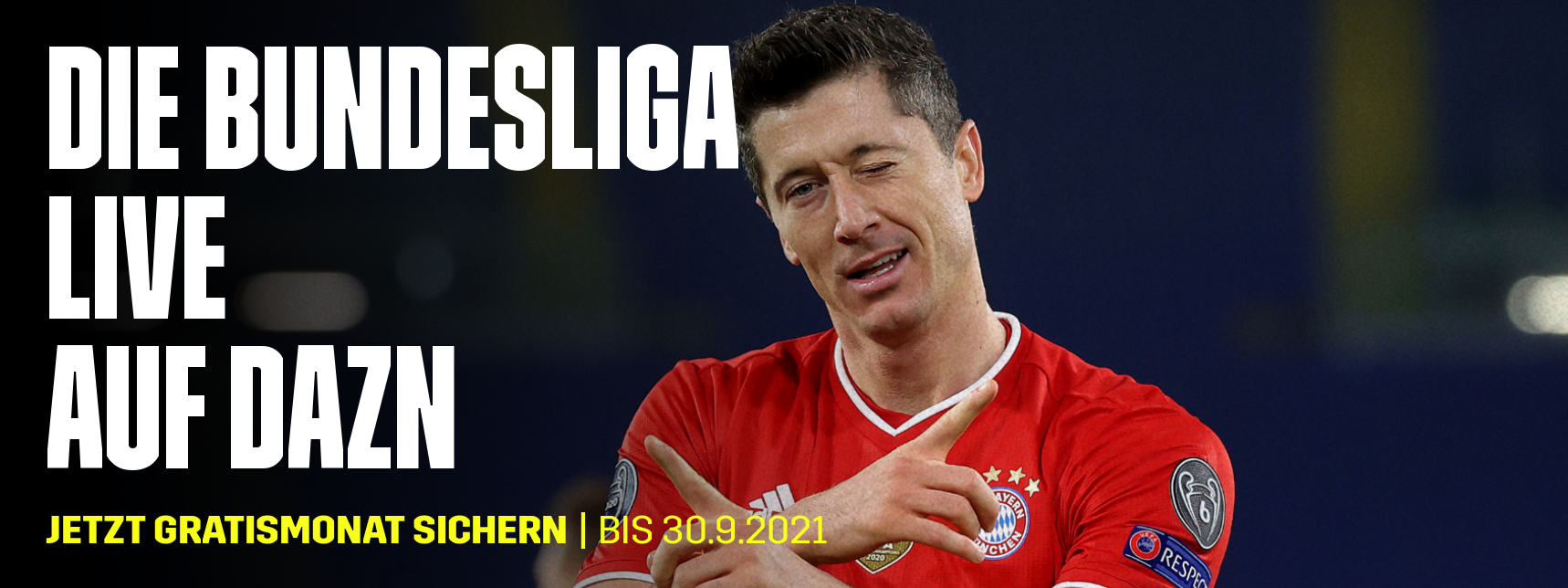 DAZN Banner Bundesliga mit Gratismonat
