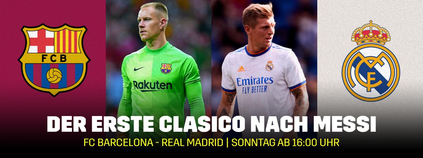 Banner Clasico 2021 FC Barcelona Real Madrid