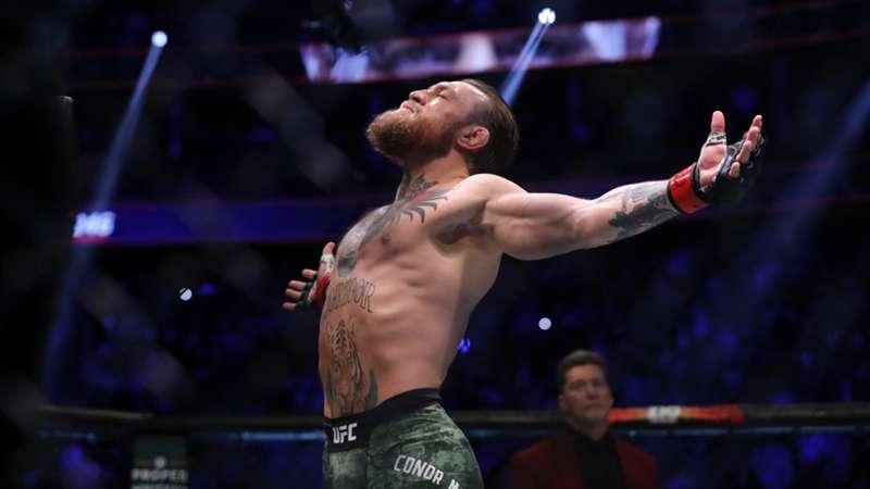 ONLY GER UFC 246 Conor McGregor Celebrates vs. Donald Cerrone 18012020