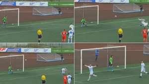 Russia kid penalty somersault